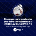 COVID-19; Circulares, comunicados, decretos y documentos importares